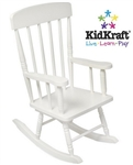 New Kids White Wooden Spindle Rocking Chair Childrens Rocker KidKraft Furniture