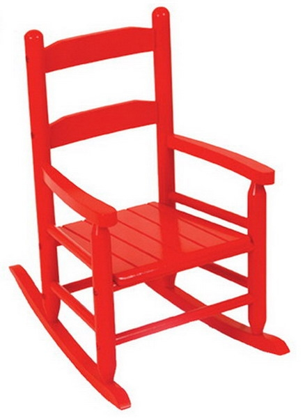 Pleasing New Kids Wooden 2 Slat Rocking Chair Red Childrens Wood Machost Co Dining Chair Design Ideas Machostcouk