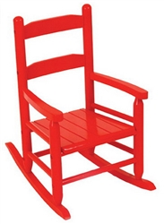New Kids Wooden 2 Slat Rocking Chair Red Childrens Wood Rocker Bedroom Furniture