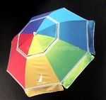 8 Foot Multi Color 2 Way Tilt Sun Beach Umbrella UPF 50+ Carry Bag