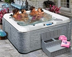 New 6 Person Hot Tub Lounger SPA with Waterfall 70 Jets Evolution