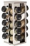 New 20 Jar Revolving Spice Rack Kitchen Cooking With Spices Included Kamenstein