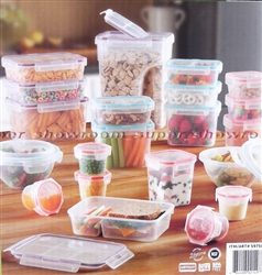 New Snapware 42 Piece Food Storage Containers Set Airtight Clear Plastic