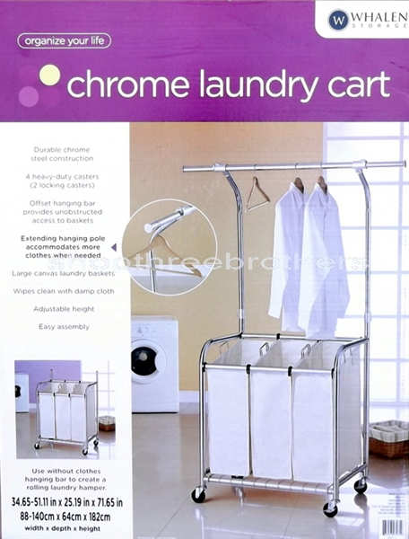 rolling laundry cart with hanging bar can do new three bag rolling laundry sorting cart heavy duty sorter hanging bar