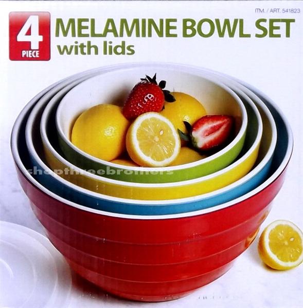 8 Piece Melamine Bowl Set