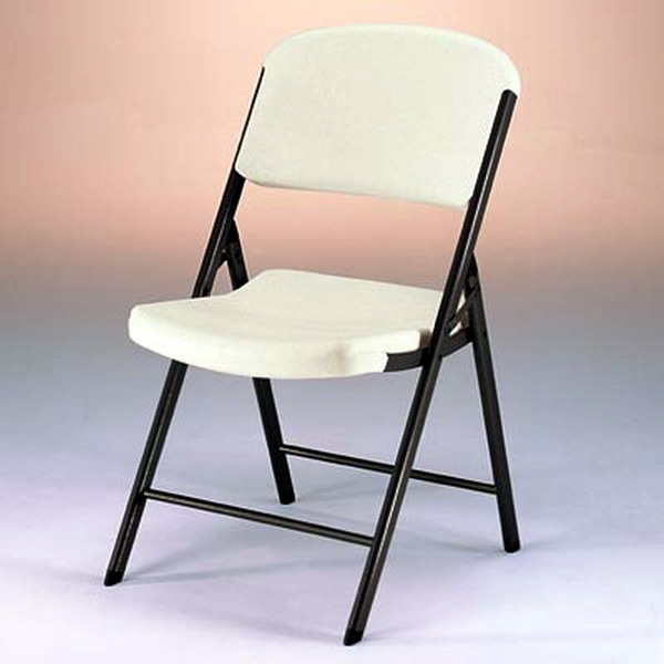 Peachy New Metal Plastic Folding Chair 4 Pack Almond Or White Granite Color Portable Seats Interior Design Ideas Apansoteloinfo