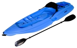 Lifetime 8' Blue Adult One Seat Sea Kayak + Paddle Backrest Paddle Cradle