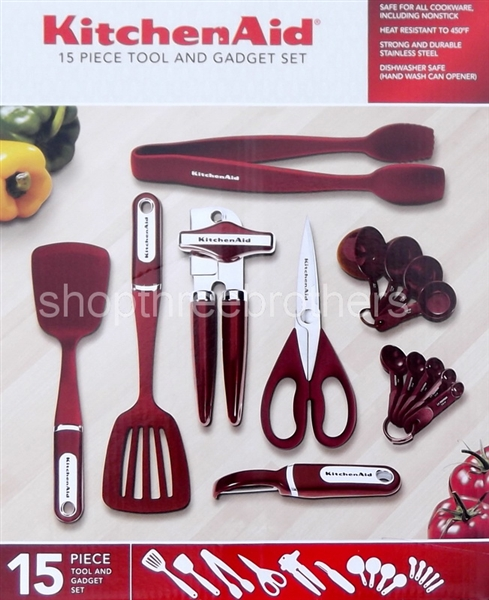 KitchenAid 15 Piece Kitchen Utensil Tools Set