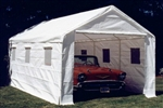 "10'-8""x 20' Car Port Storage Canopy Tent Garage with Walls Sidewalls"