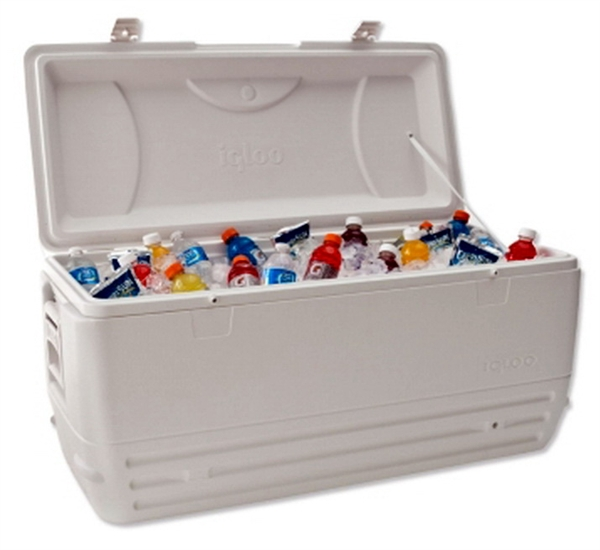Igloo Cooler 150 qt Max Cold Ice Chest Insulated Large 248 Can Marine Fishing