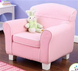 Laguna Chair in Pink with White Piping
