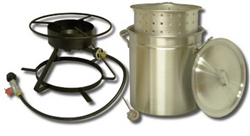 King Kooker 50 qt. Aluminum Ridge Pot Outdoor Cooker Package