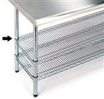 Extra 18-Inch by 48-Inch Chrome Steel Shelf for Worktable