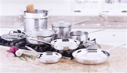 Cuisinart 12 pc Tri-Ply Stainless Steel Cookware Set