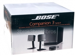 Bose Companion III 3  Multimedia Computer Speakers System Black