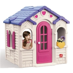 Sweetheart Girl's Playhouse Kids Outdoor Pretend Play Cottage