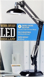 "Natural Daylight Fully Adjustable 3.5"" To 20"" LED Desk Lamp"