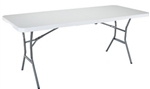 Lifetime 6' Fold-in-Half  White Table
