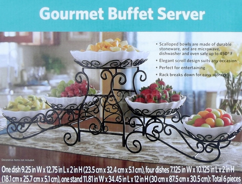 3 tier buffet server 5 stoneware serving dishes wrought iron stand rh shopthreebrothers com 3 tier buffet server set 3 tier buffet server uk
