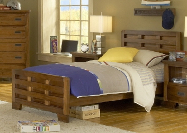 Twin Size Kids Solid Wood Bed Frame
