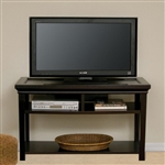 "Solid Birch Furniture Mocha Finish Holds 50"" TV"