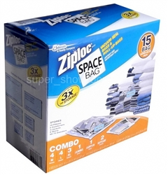 New Set 15 Space Bags Vacuum Seal Storage Organizer Multi Size Zip Loc Original