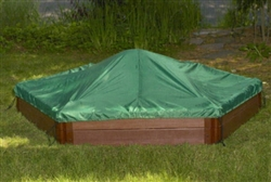 Green Hexagonal 7' x 8' Sand Box Cover