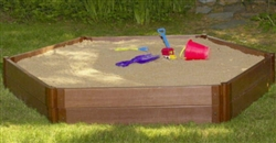 "New Kids Hexagonal Sandbox 7' × 8' × 12"" Outdoor Children's Play Sand Box"