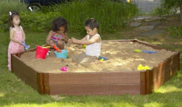New Kids Hexagonal Sandbox 7\' × 8\' × 12\