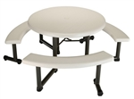 "4 Pack 44"" Round Picninc Tables"