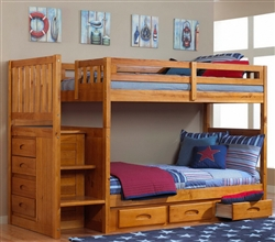 Staircase Bunk Bed Twin over Twin