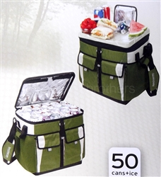 Green 50 Can Collapsible Tabletop Cooler