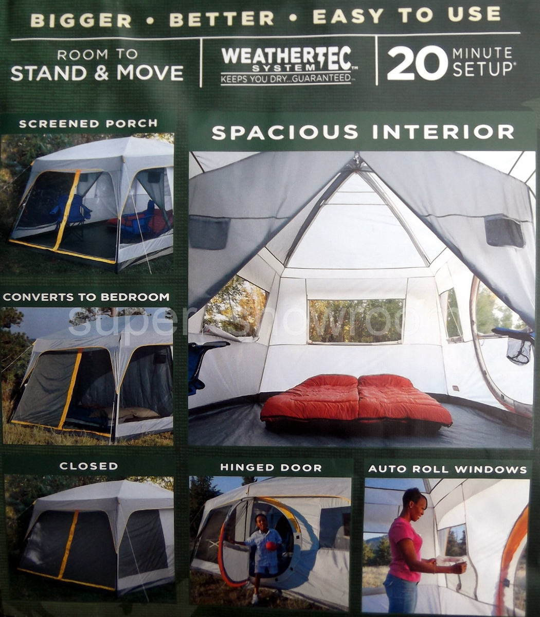 217bd216264 Coleman 16' X 10' 10 Person Weathermaster II Screened Camping Tent