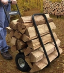 Rolling Firewood Log Caddy with Cover