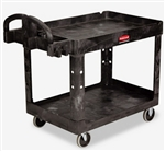 Rubbermaid Rolling Black Utility Cart