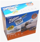 Set of 12 Ziploc Space Bags Vacuum Seal Storage Organizer Set