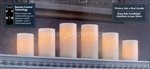 Set of 6 Flameless LED Candles Real Wax Scented