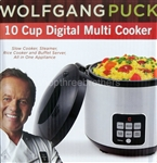 Wolfgang Puck 10 Cup Stainless Steel Multi Rice Cooker & Steamer
