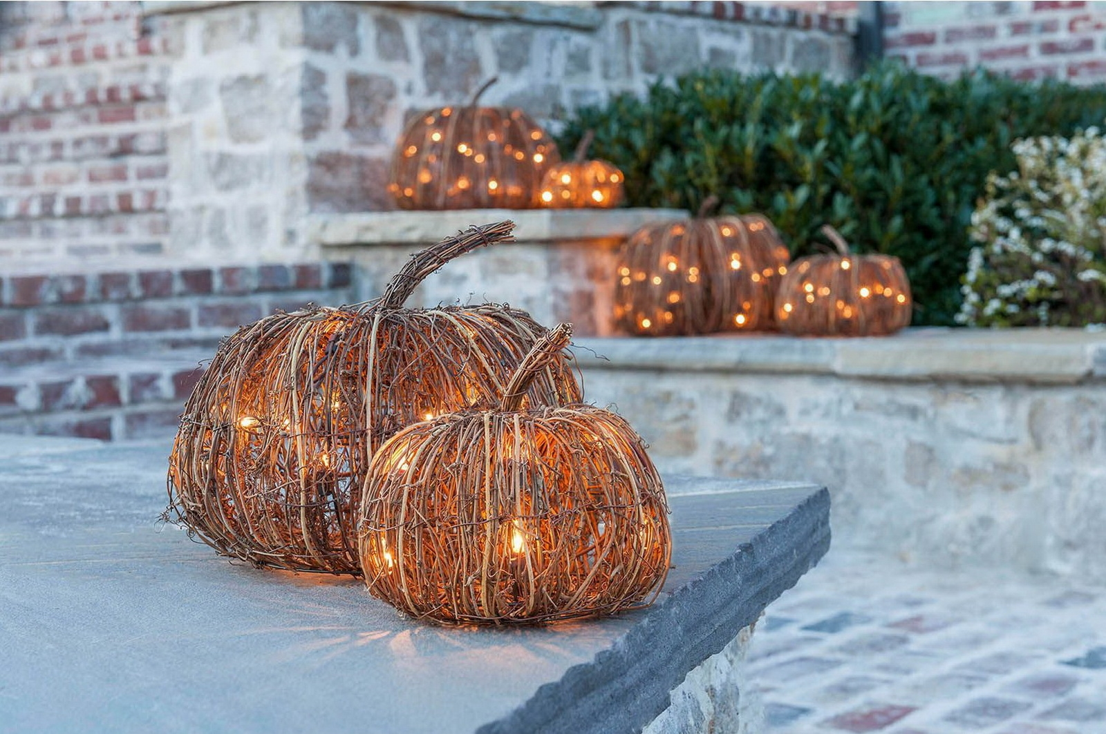 Set of 3 indoor and outdoor decorative lighted pumpkins halloween free workwithnaturefo