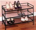 3 Shelf Metal Shoe Storage Shelf Multi Purpose Utility Shelving