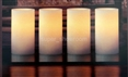 Set of 4 Flameless LED Candles Wax Scented + Remote Control & Timer