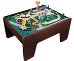 2 Sided WOOD TRAIN & LEGO ACTIVITY PLAY TABLE