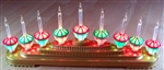 9 BUBBLE LIGHTS Christmas Decoration Stand