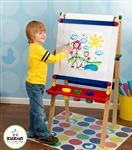 Kids Wood  Wooden Artist Art Easel with Paper Roll
