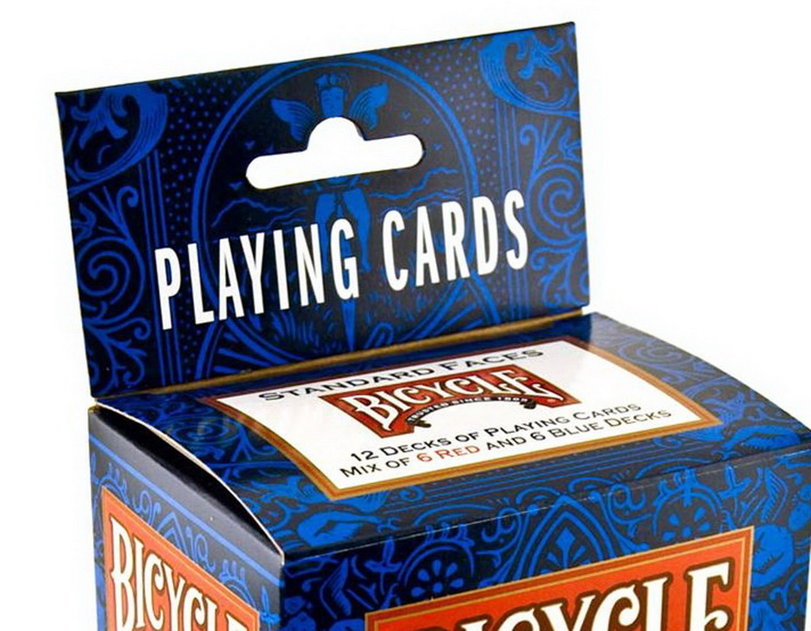 Cards 12 Decks Bicycle Standard Playing Cards 12 packs 6 Red 6 Blue