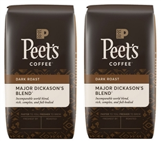 Two Bags of Major Dickason's Whole Bean Coffee
