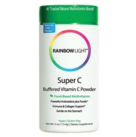 Super C Buffered Vitamin C Powder - 4 oz - Rainbow Light
