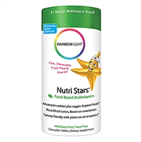 NutriStars Multivitamin Delicious Fruit Blast - 60 Chewable Tablets - Rainbow Light
