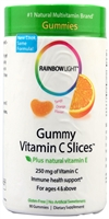 Gummy Vitamin C Slices Tangy Orange - 250 mg - 90 Gummies - Rainbow Light