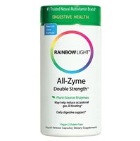 All-Zyme Double Strength - 60 + 30 Free Vegetarian Capsules - Rainbow Light